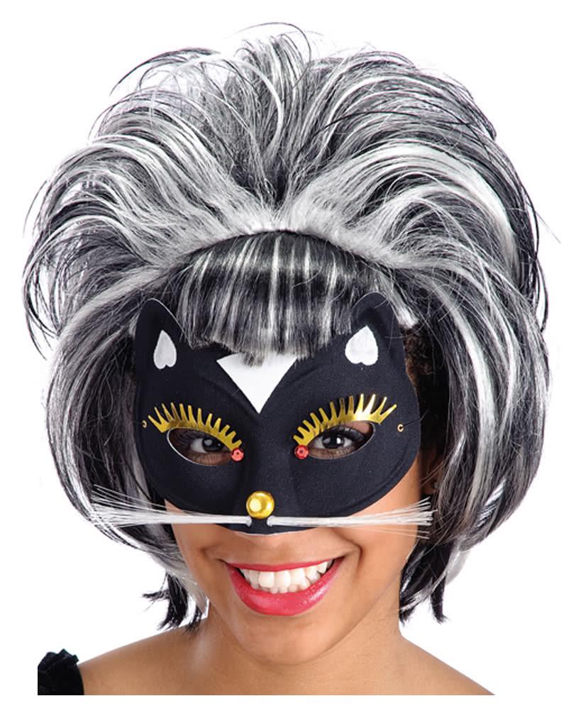 katzen maske mit glimmer und strass als kost mzubeh r. Black Bedroom Furniture Sets. Home Design Ideas