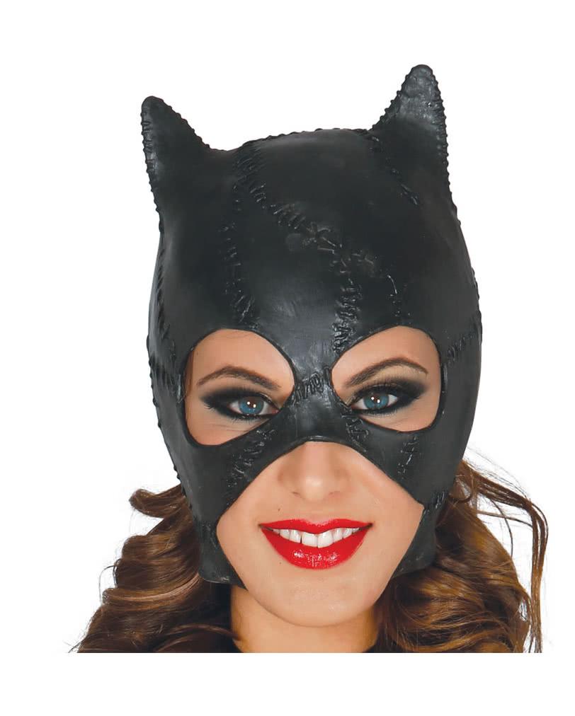 katzenfrau latex maske konkurrenz f r catwoman karneval universe. Black Bedroom Furniture Sets. Home Design Ideas