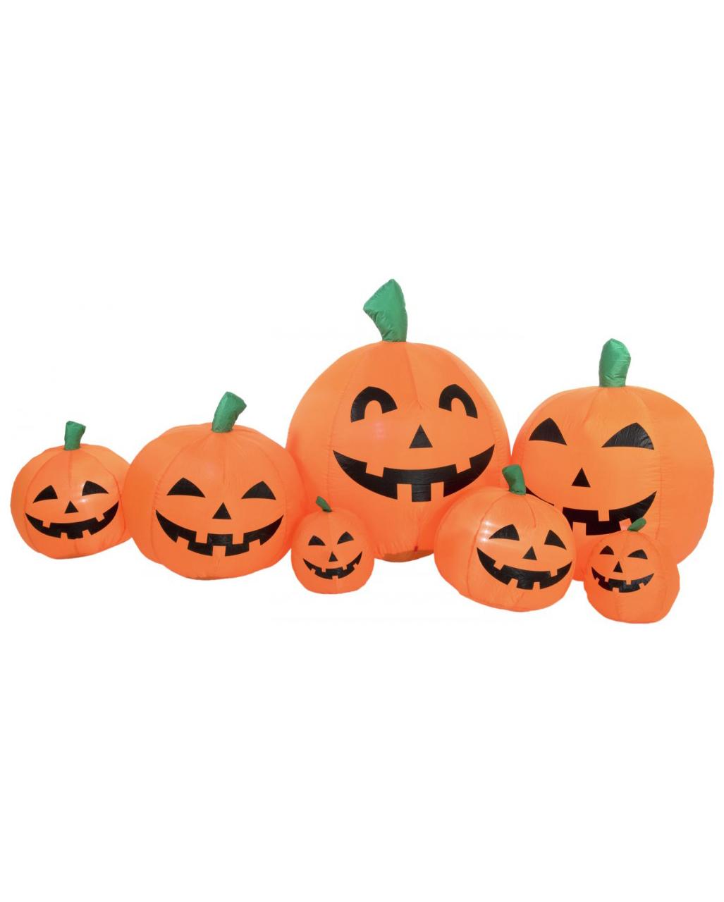 Aufblasbare Kurbisfamilie Halloween Deko 235 Cm Karneval Universe