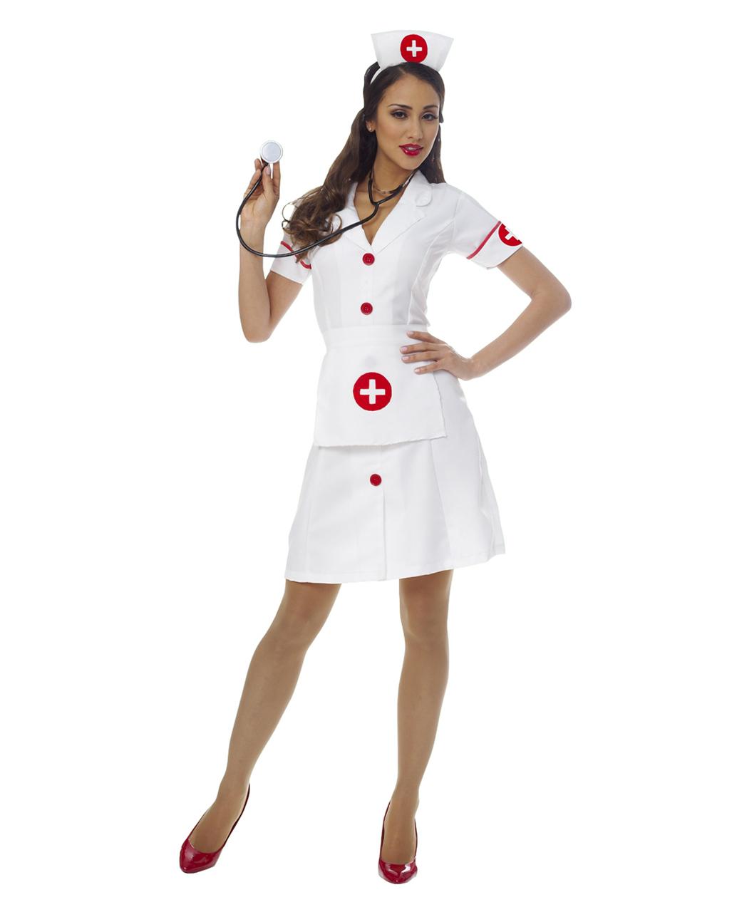 Klassisches Krankenschwester Kostum Nurse Damenkostum Uniform