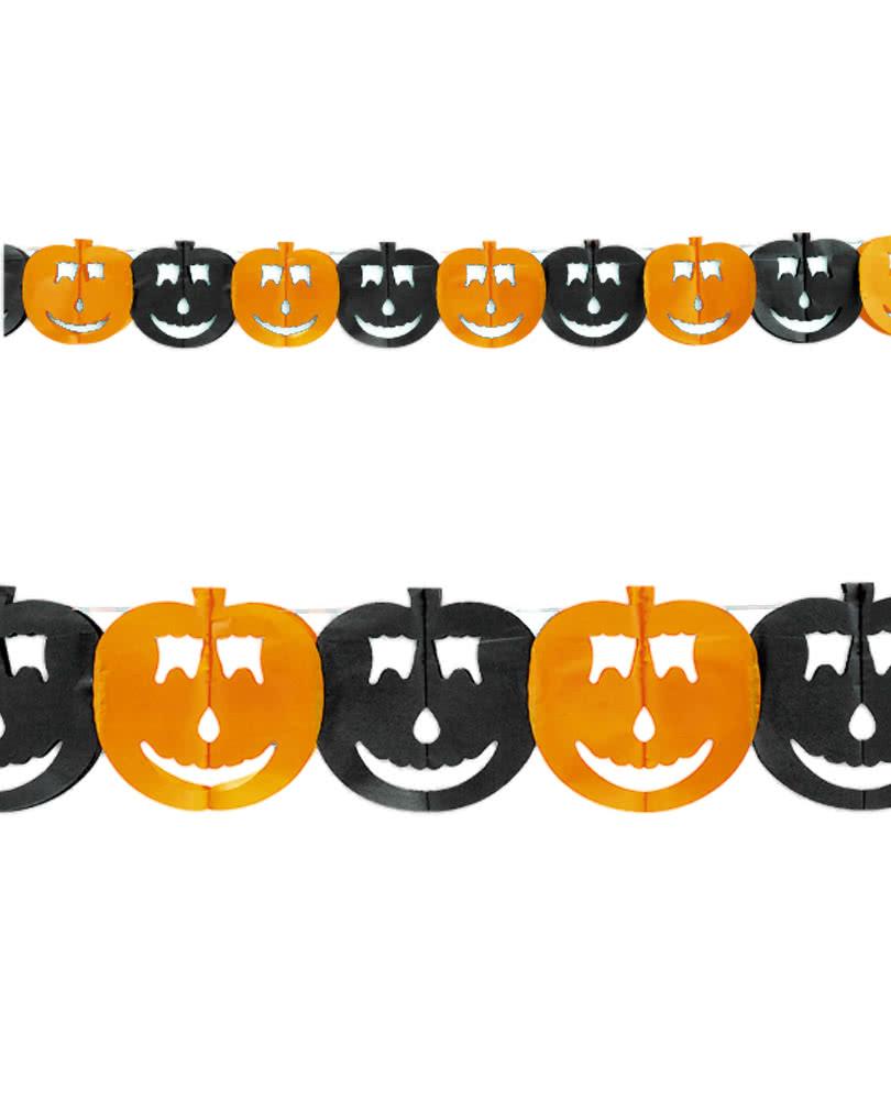 K rbis girlande aus papier halloween deko kaufen - Halloween girlande ...