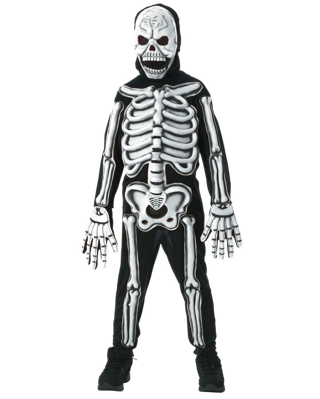 skelett kinderkost m 3d s online kaufen karneval universe. Black Bedroom Furniture Sets. Home Design Ideas