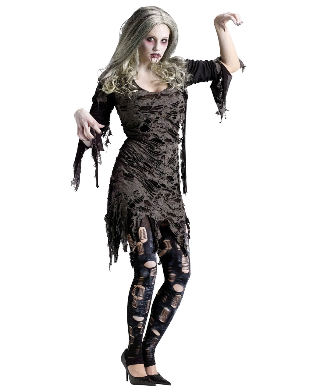 living dead zombie kost m sm zombie kleid kaufen karneval universe. Black Bedroom Furniture Sets. Home Design Ideas