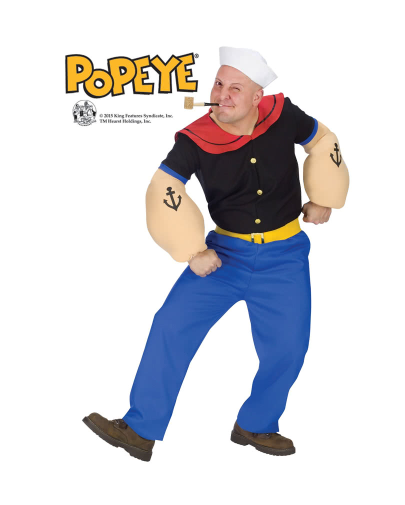 original popeye kost m ml verkleide dich als popeye der seemann karneval universe. Black Bedroom Furniture Sets. Home Design Ideas