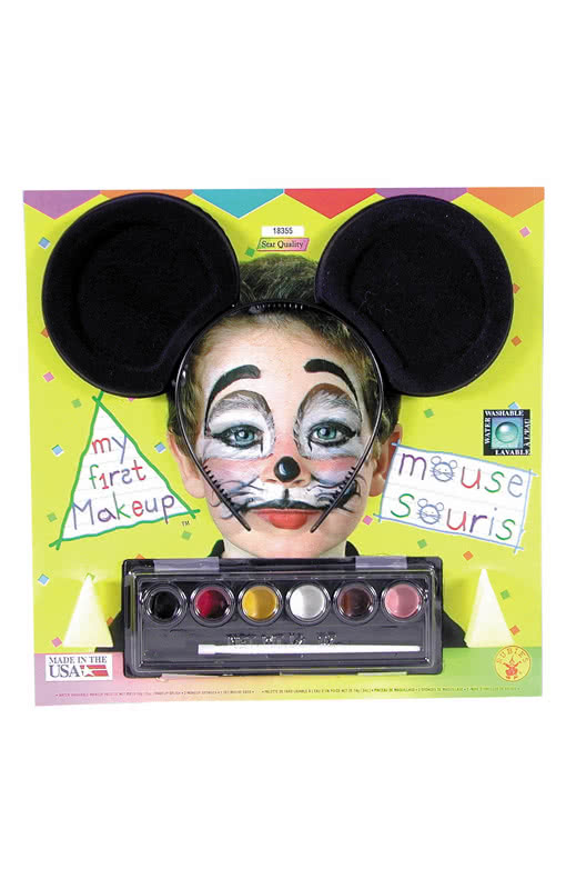Maus Schmink Set Mit Mauseohren Mause Make Up Fur Kinder