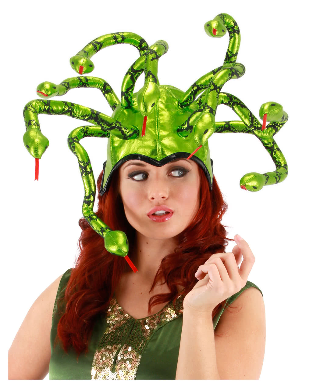 schlangenhut medusa kopfbedeckung f r fasching karneval universe. Black Bedroom Furniture Sets. Home Design Ideas