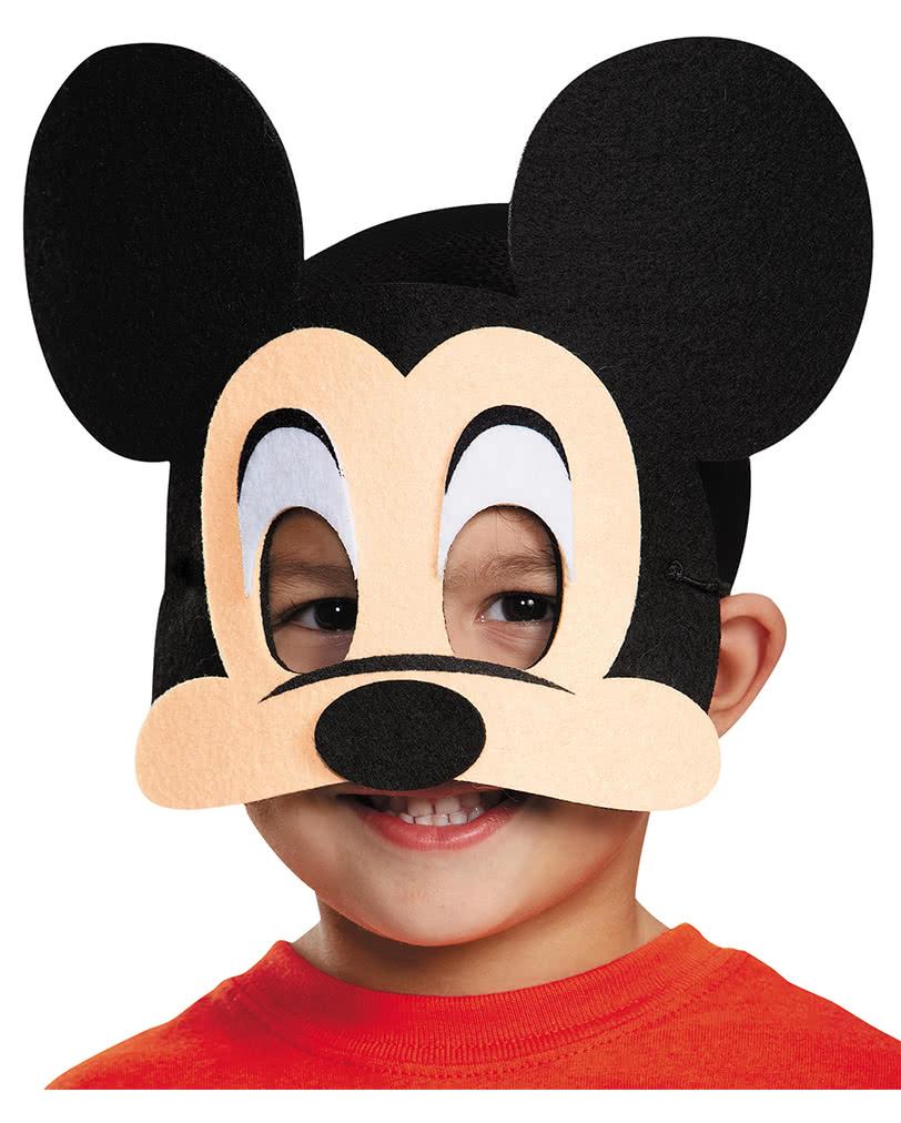 mickey mouse maske aus filz disney masken f r comic fans karneval universe. Black Bedroom Furniture Sets. Home Design Ideas