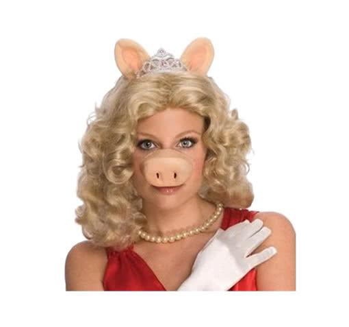 blonde miss piggy per cke blonde langhaarper cke von miss piggy karneval universe. Black Bedroom Furniture Sets. Home Design Ideas