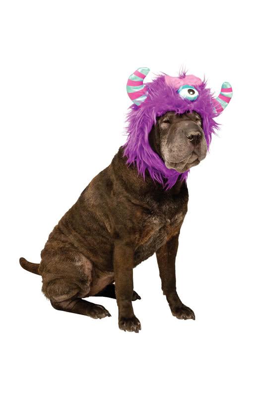 lila monster hunde m tze schrille verkleidung f r den hund karneval universe. Black Bedroom Furniture Sets. Home Design Ideas