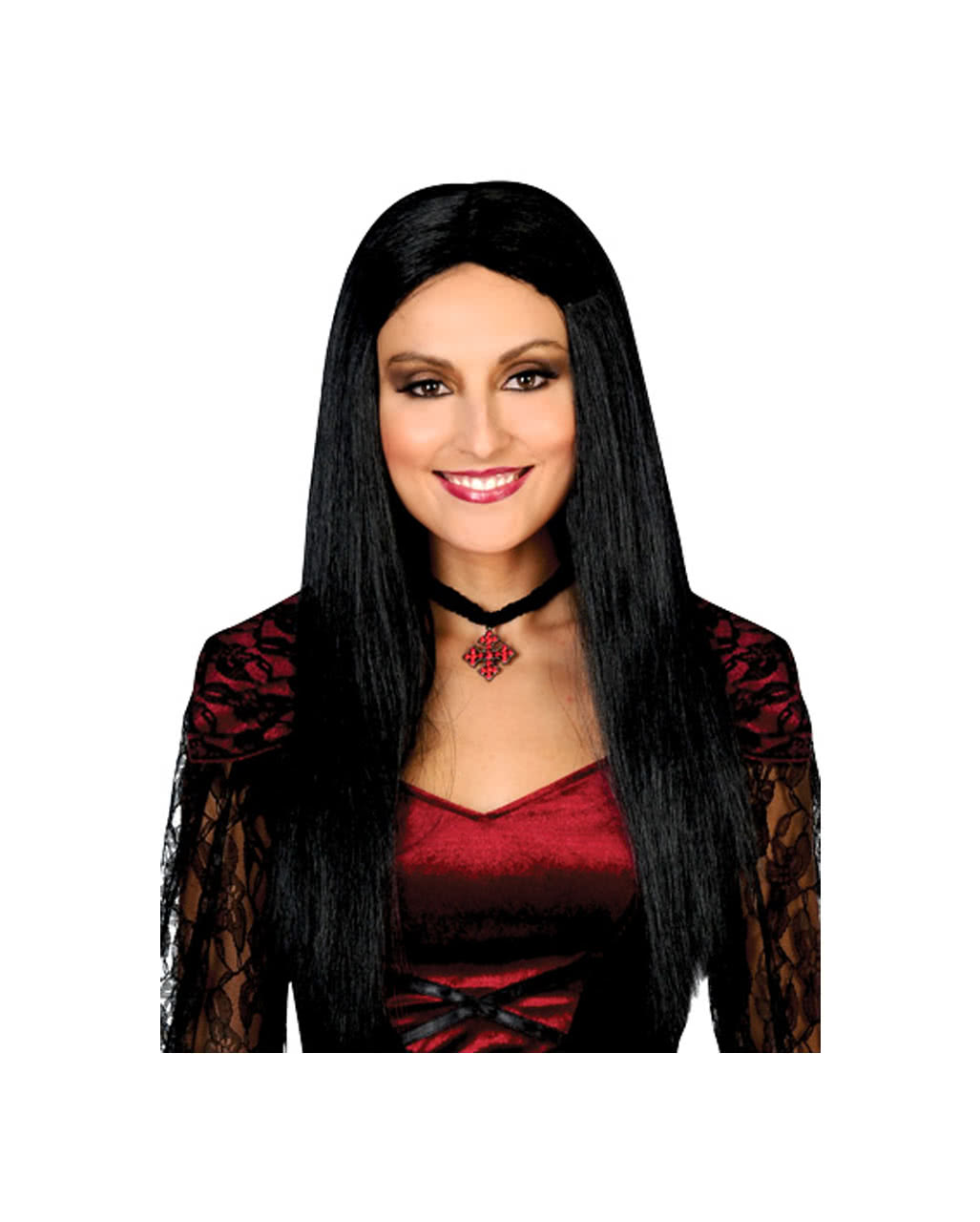 Morticia Wig Economy As Halloween Accessory