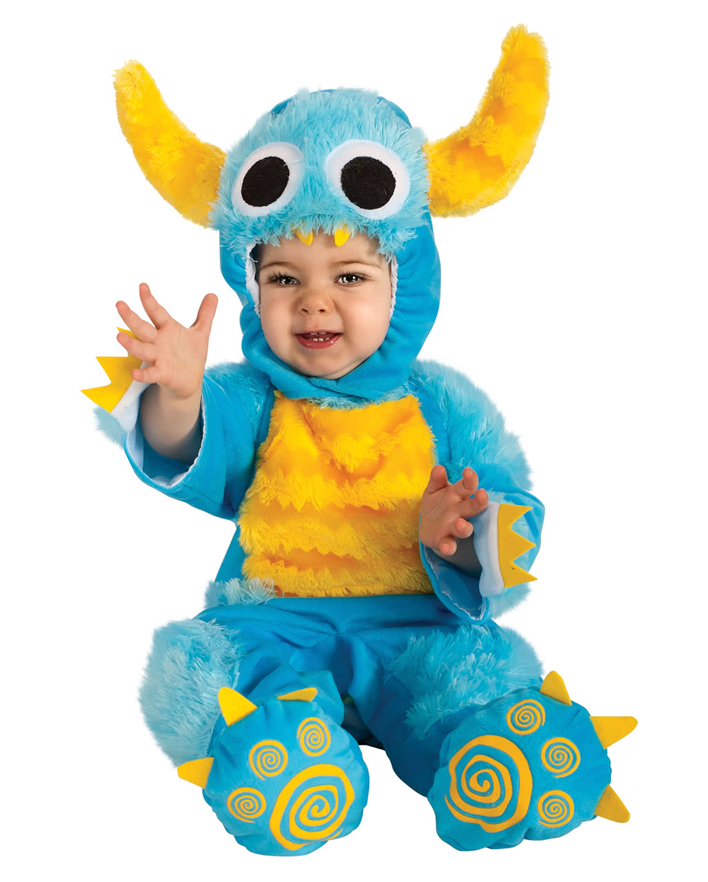 Biscuit monster baby costume blue