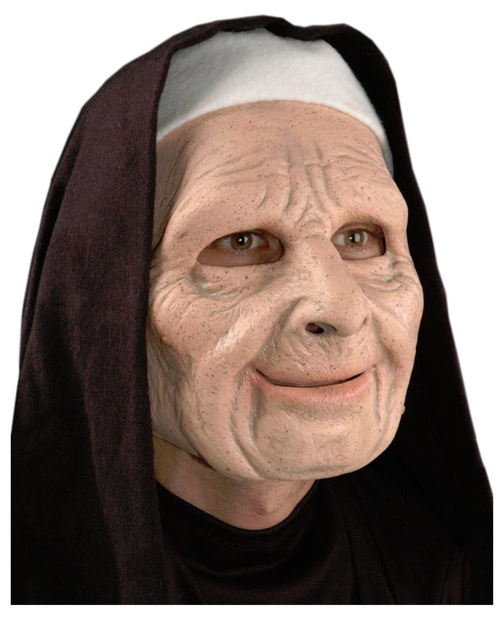 gruselige nonnen maske f r halloween fasching karneval universe. Black Bedroom Furniture Sets. Home Design Ideas