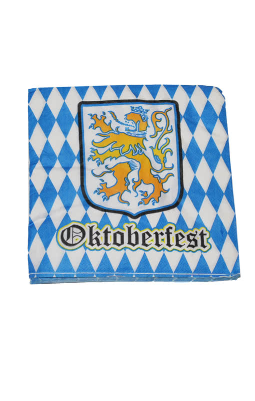 oktoberfest paper napkins table decoration bavarian. Black Bedroom Furniture Sets. Home Design Ideas