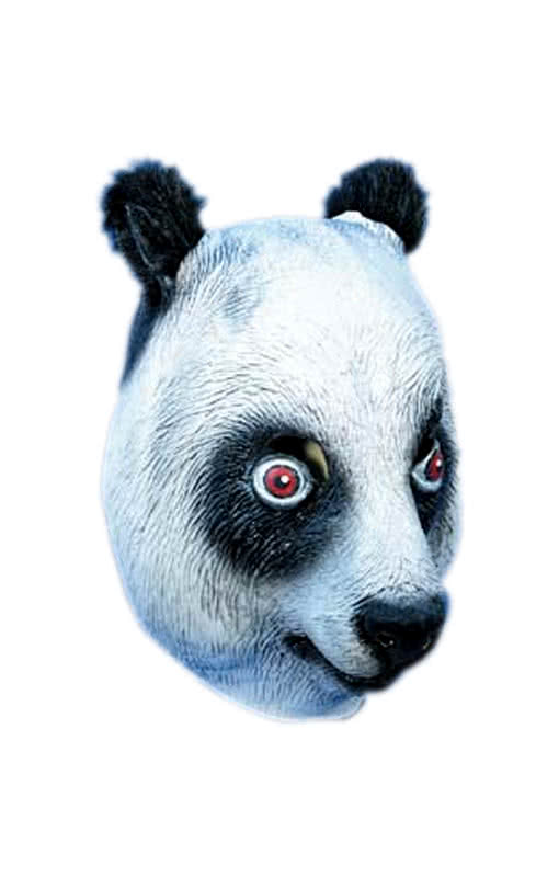 panda maske aus latex wo hat cro die panda maske her karneval universe. Black Bedroom Furniture Sets. Home Design Ideas