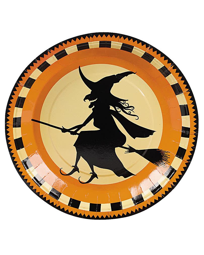 Fliegende Hexe Pappteller Halloween Dekoration Online