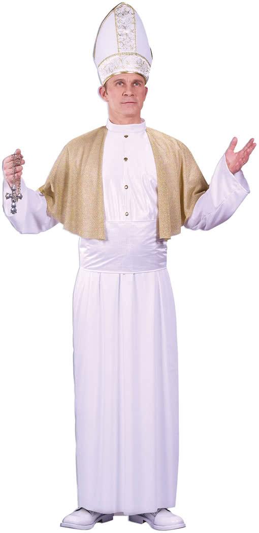 Papst Herren Kostüm als Bischof von Rom verkleiden zu Karneval Fasching