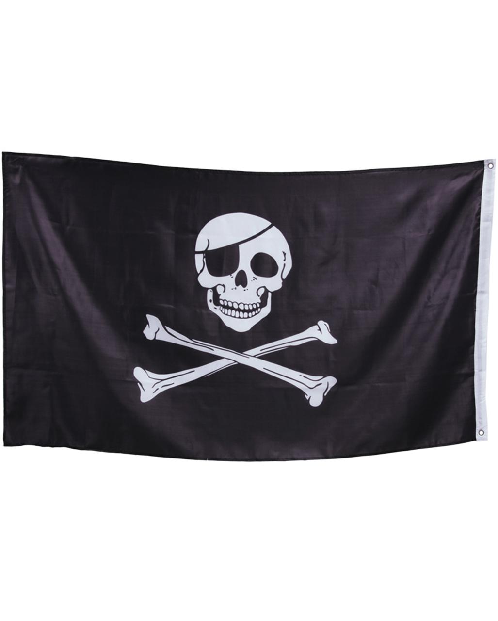 Piratendeko Partydekoration Pirat Fahne Totenkopf Flagge 90 x 150 cm Seeräuber