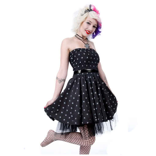 polka dot petticoat kleid mit t ll als rockabilly kleid karneval universe. Black Bedroom Furniture Sets. Home Design Ideas