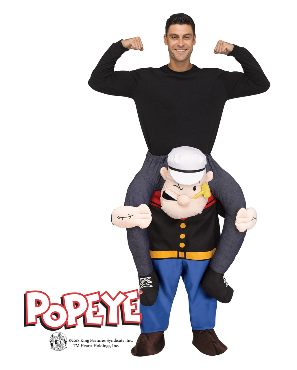 popeye huckepack kost m f r fasching karneval universe. Black Bedroom Furniture Sets. Home Design Ideas