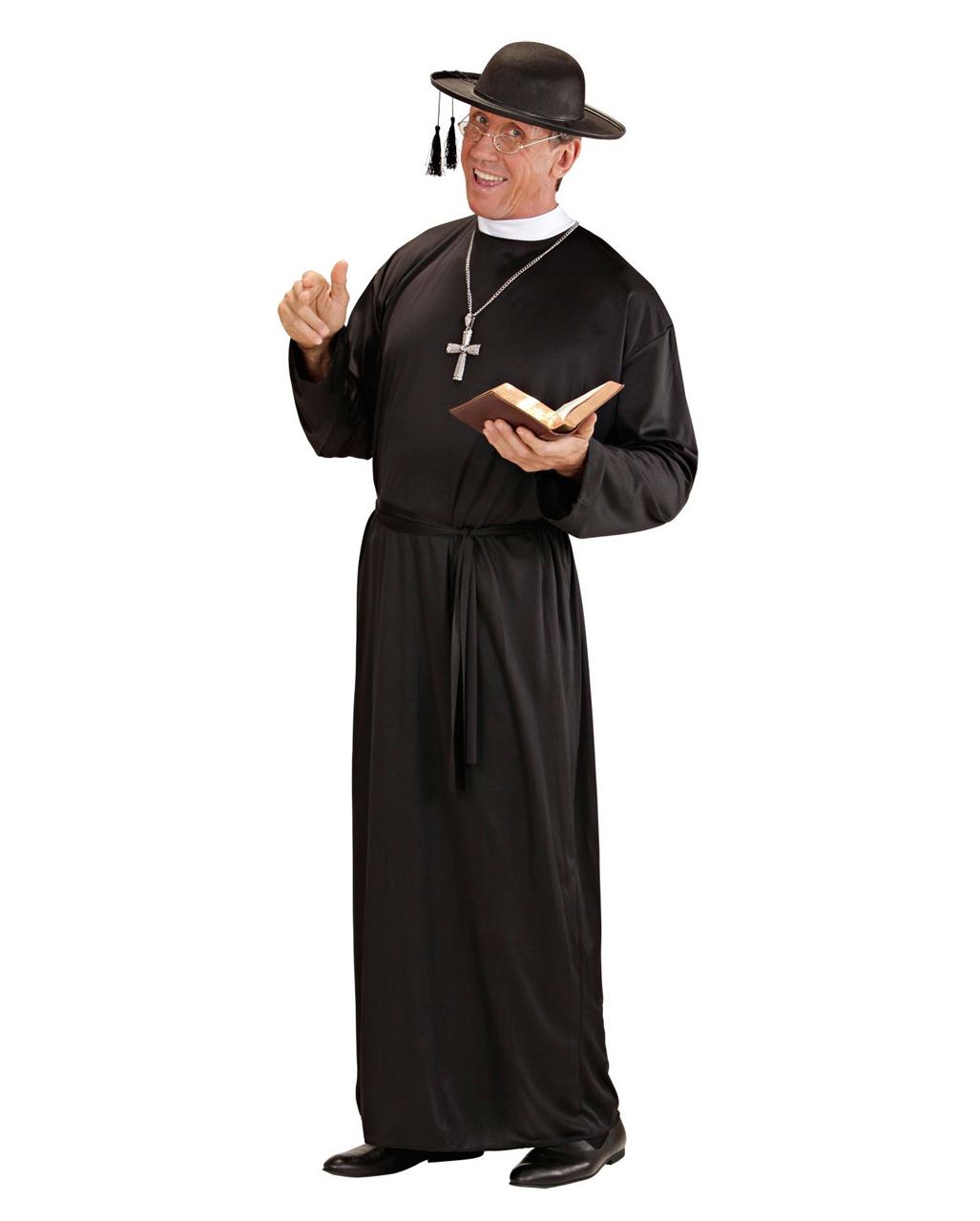 priester monsignore kost m schwarz gr xl priester kost me karneval universe. Black Bedroom Furniture Sets. Home Design Ideas