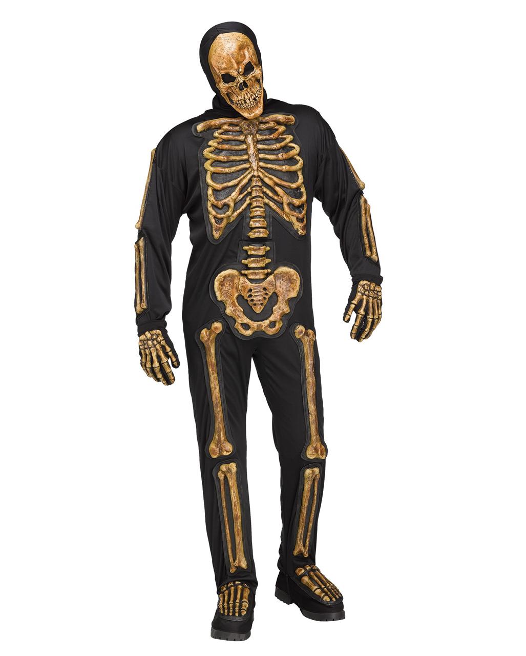 verwestes skelett kost m mit knochen f r halloween karneval universe. Black Bedroom Furniture Sets. Home Design Ideas