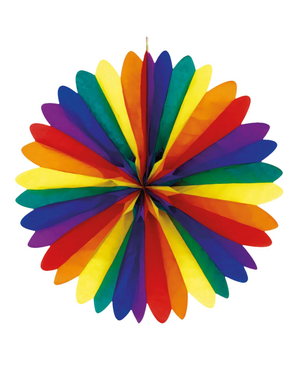 Regenbogen f cher deckendeko 50cm als deko karneval universe for Regenbogen dekoration