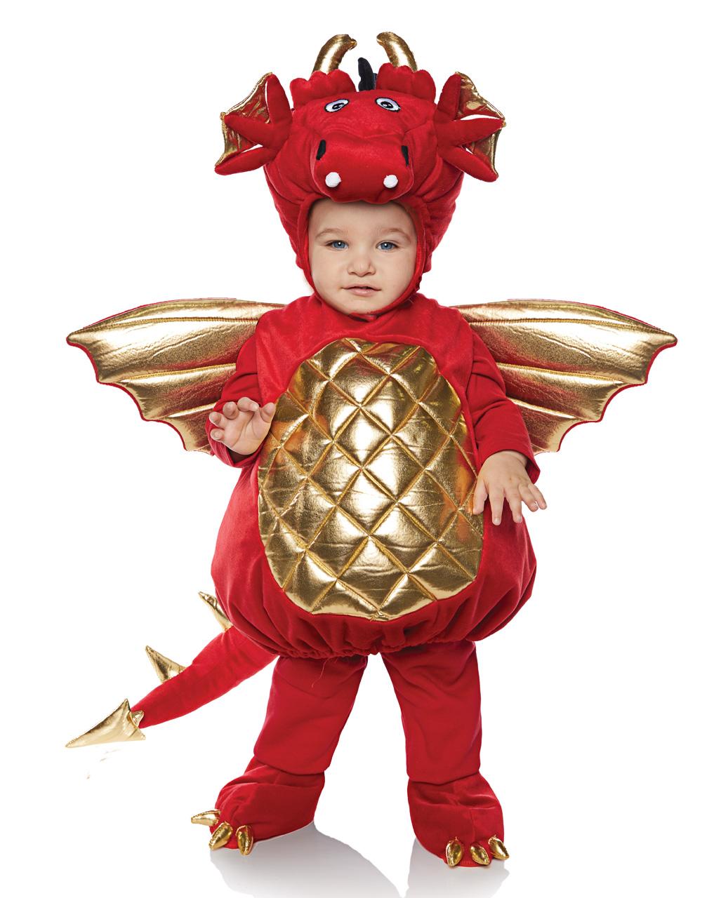 Drachen Kleinkinderkostum Rot Gold Kaufen Karneval Universe