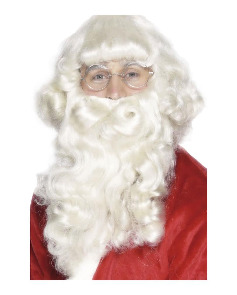 weihnachtsmann bart per cke set f r nikolaus santa. Black Bedroom Furniture Sets. Home Design Ideas