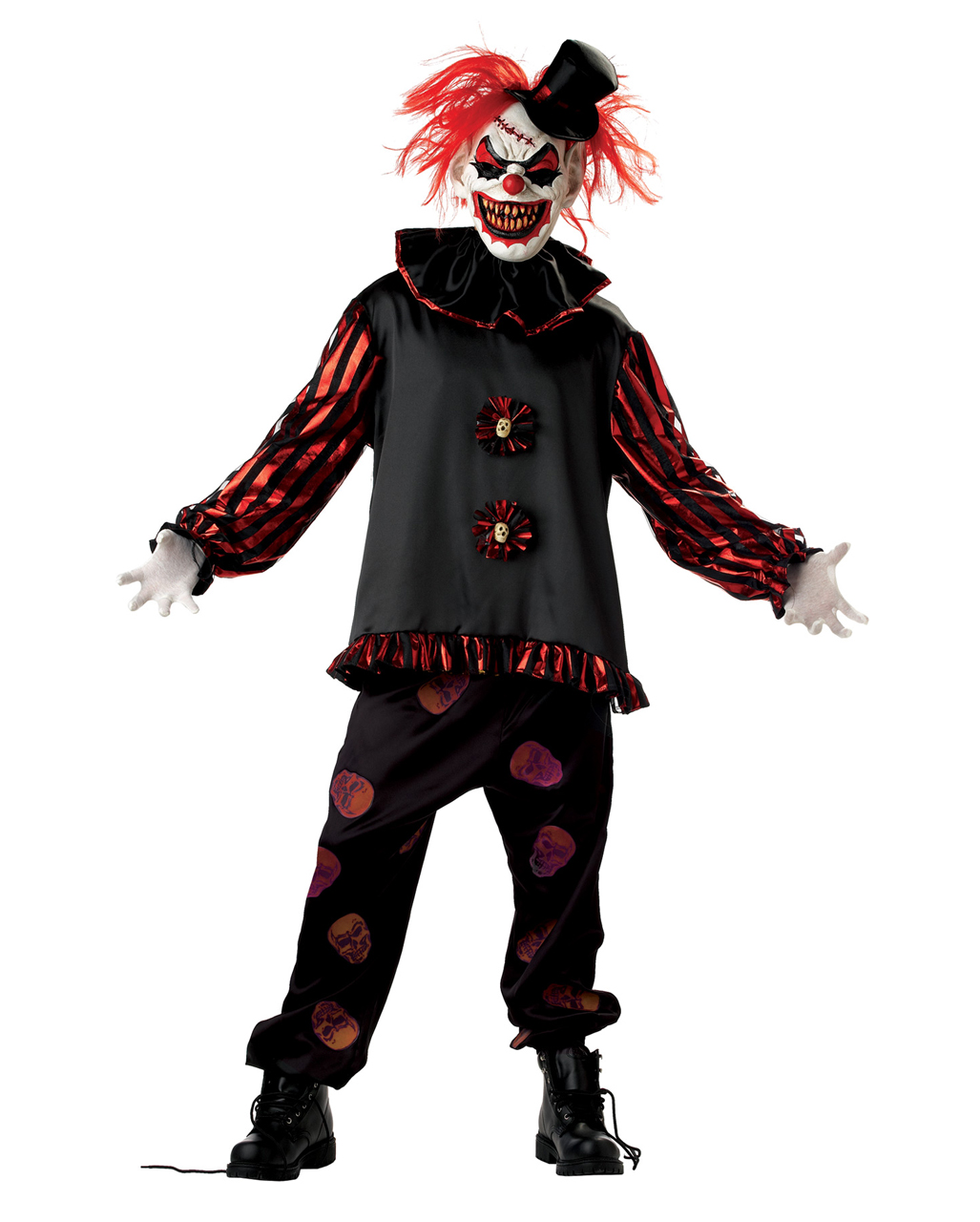 horror clown kost m mit maske f r fasching karneval universe. Black Bedroom Furniture Sets. Home Design Ideas