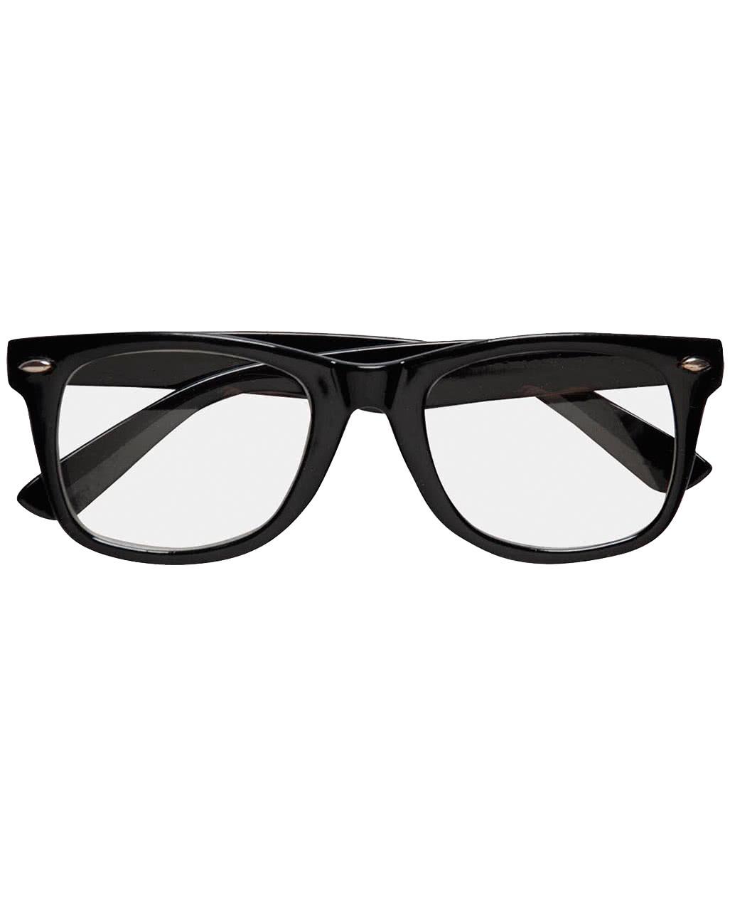 schwarze nerd brille mit gl sern supermann brille. Black Bedroom Furniture Sets. Home Design Ideas