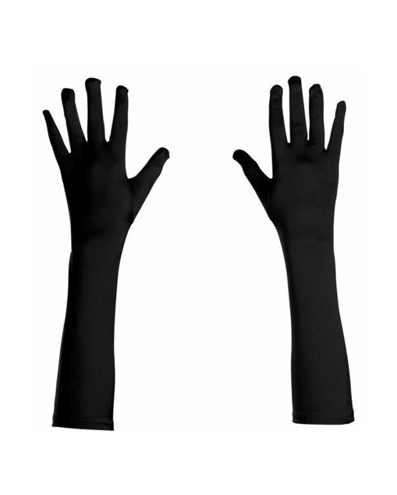 Spitzenhandschuhe in schwarz Hadschuhe Spitze Halloween Fasching Kostüm Tänzerin