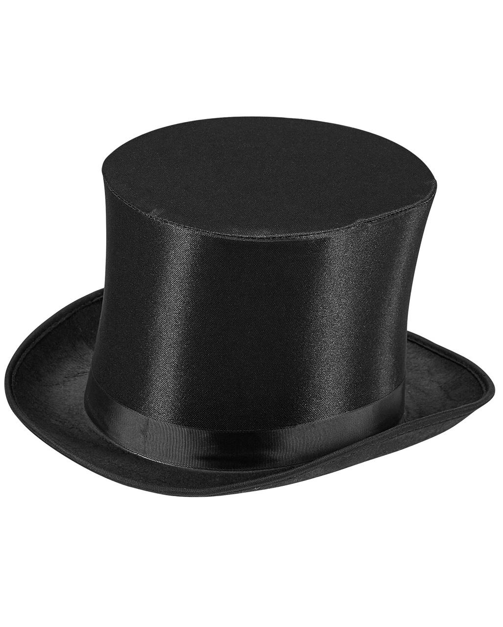 Schwarzer Zylinder Hut Zylinderhut schwarz Karneval Fasching Zauberer Kostüm