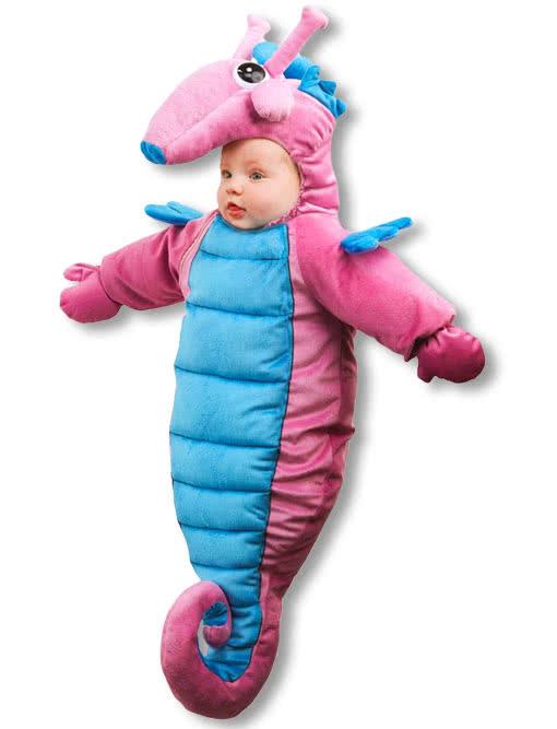 seepferdchen baby kost m f r fasching karneval universe. Black Bedroom Furniture Sets. Home Design Ideas