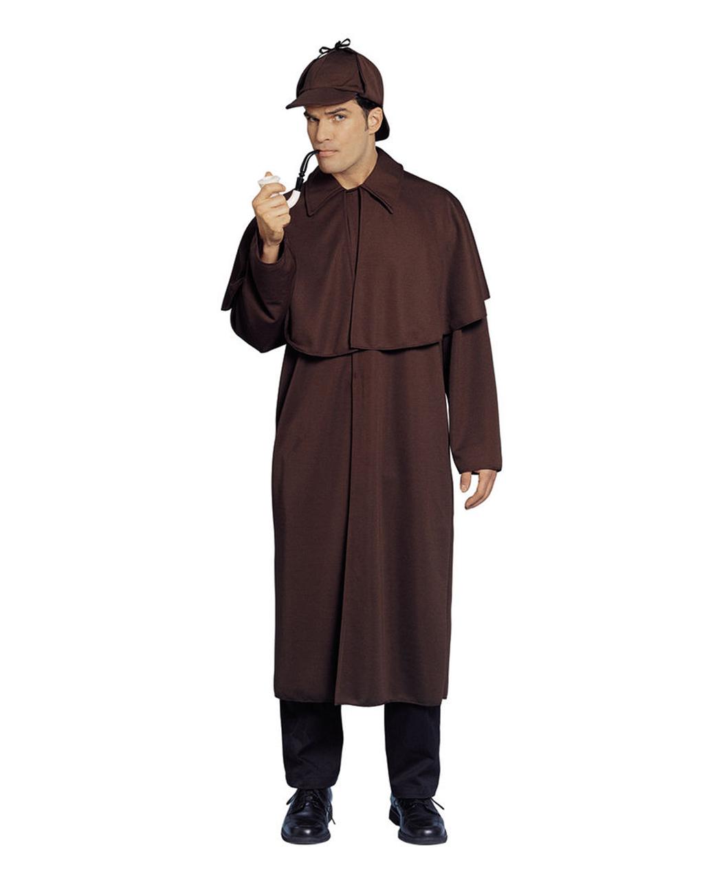 sherlock holmes mantel mit m tze als detektiv kost m. Black Bedroom Furniture Sets. Home Design Ideas