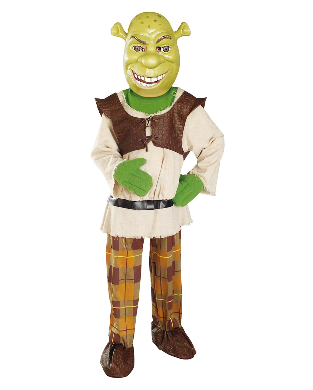 lizenziertes shrek kinder kost m mit maske karneval universe. Black Bedroom Furniture Sets. Home Design Ideas