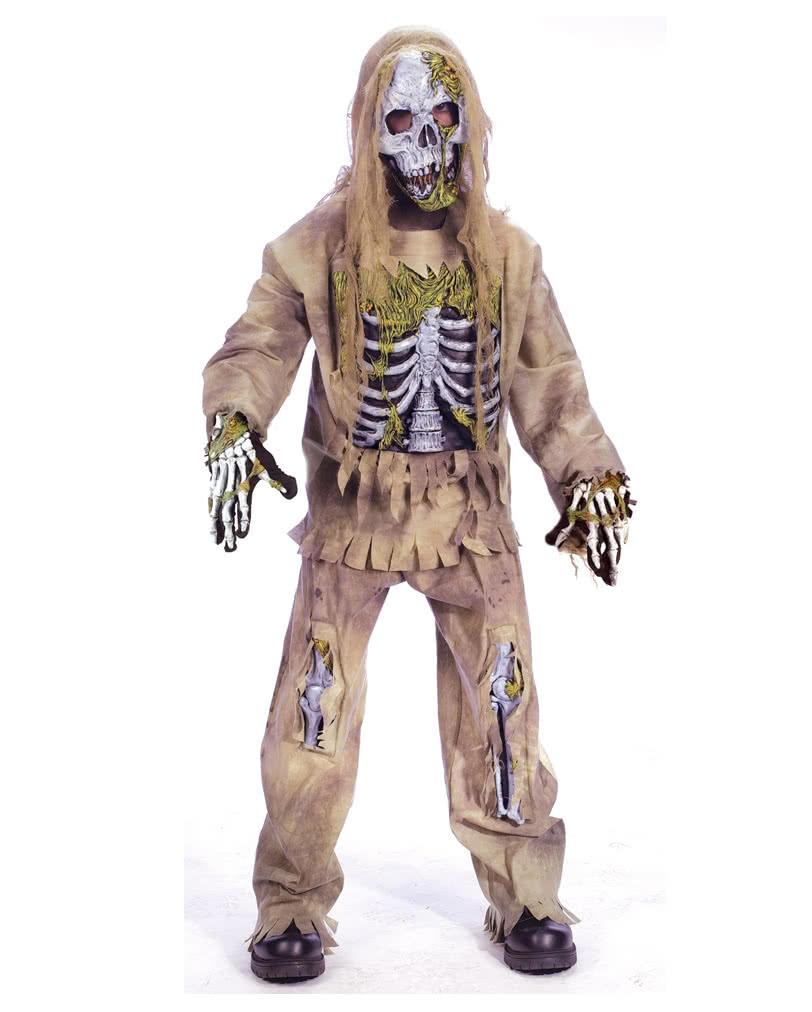 skeleton zombie deluxe kinderkost m s f r halloween karneval universe. Black Bedroom Furniture Sets. Home Design Ideas