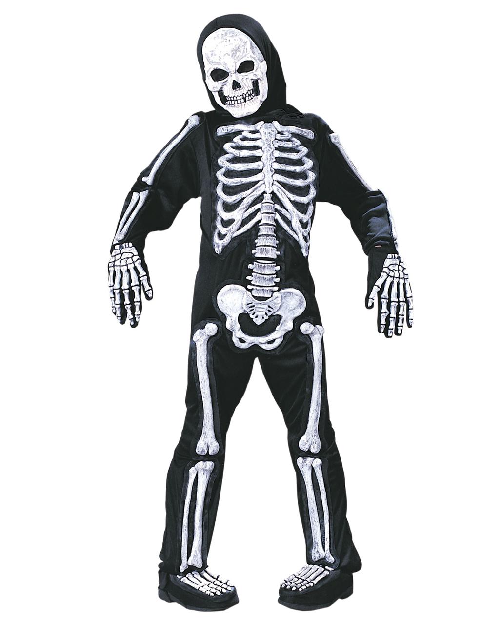 bis zu 80% sparen gehobene Qualität heiße Produkte Skelett Kinderkostüm mit 3D Knochen