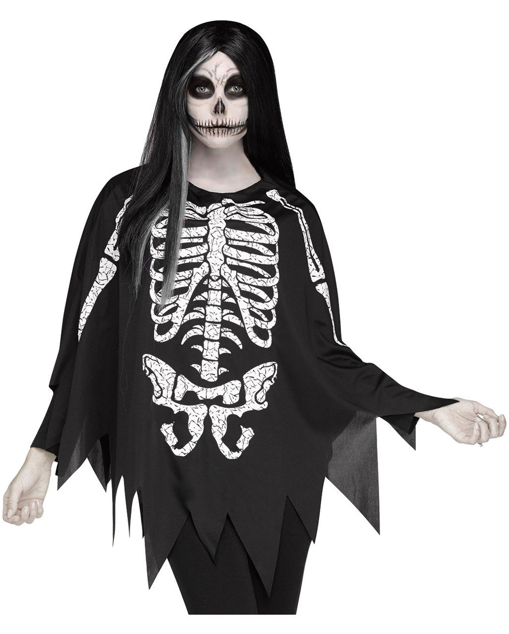 Offizielle Website bis zu 80% sparen gehobene Qualität Skelett Kostüm-Poncho