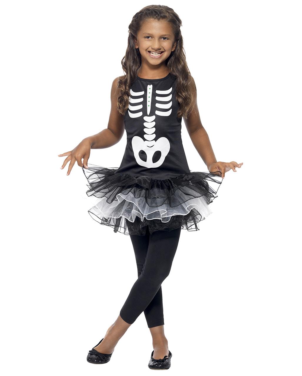 skelett ballerina kost m f r kinder s es skelettn faschingskost m karneval universe. Black Bedroom Furniture Sets. Home Design Ideas