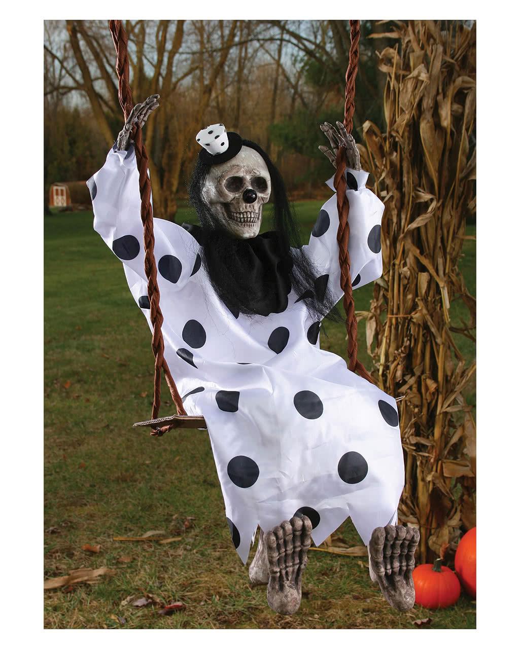 Clown Skelett Geist Auf Der Schaukel Halloween Deko Fur Grusel Garten Karneval Universe