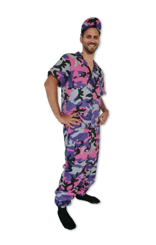 soldat gr m pink m nner kost m karneval fasching karneval universe. Black Bedroom Furniture Sets. Home Design Ideas