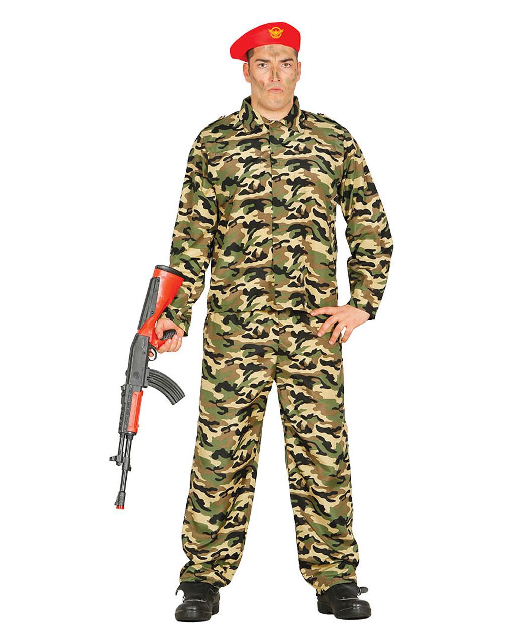 camouflage kost m soldat mit m tze kaufen karneval universe. Black Bedroom Furniture Sets. Home Design Ideas