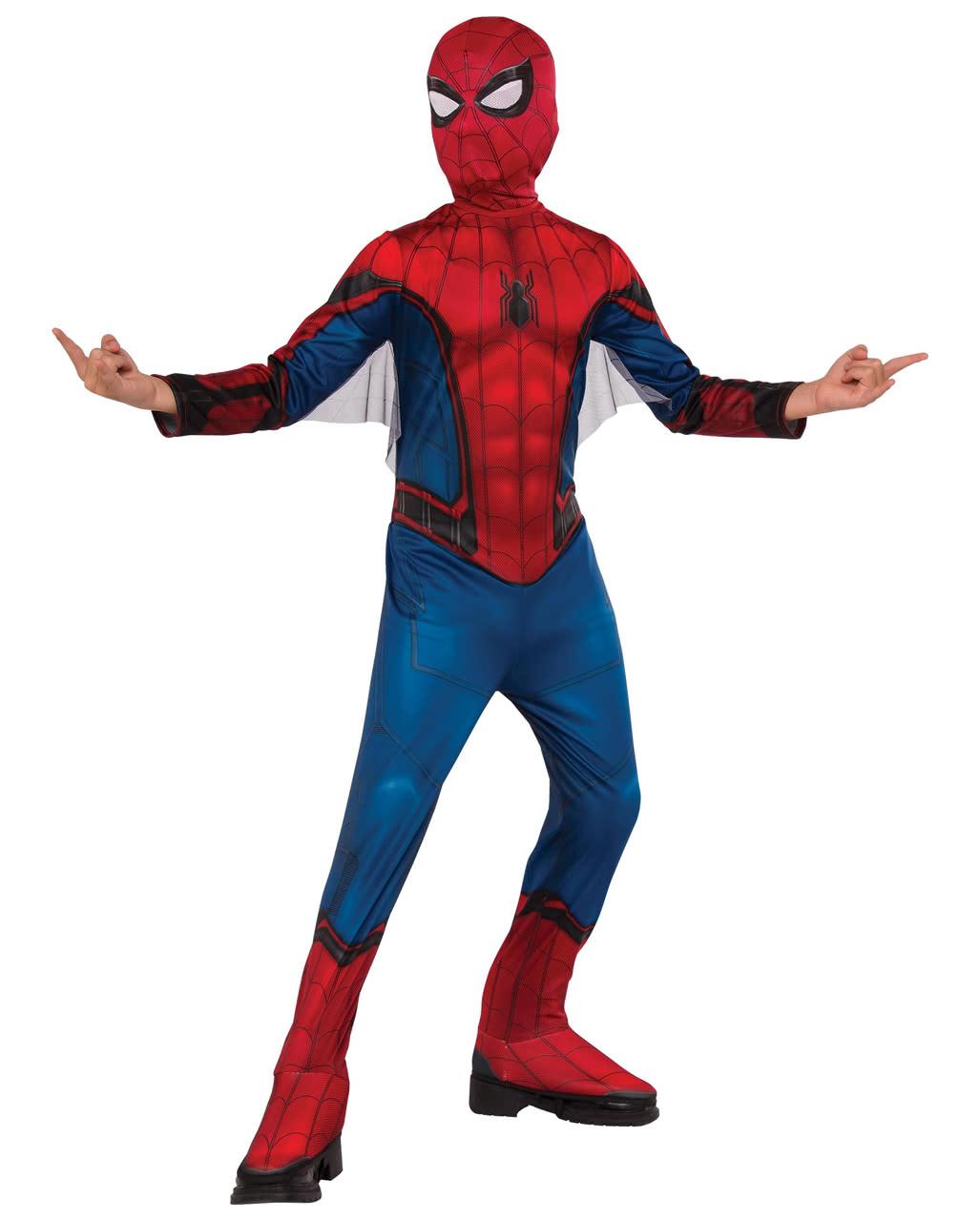 spiderman kinderkost m mit maske f r fasching karneval. Black Bedroom Furniture Sets. Home Design Ideas