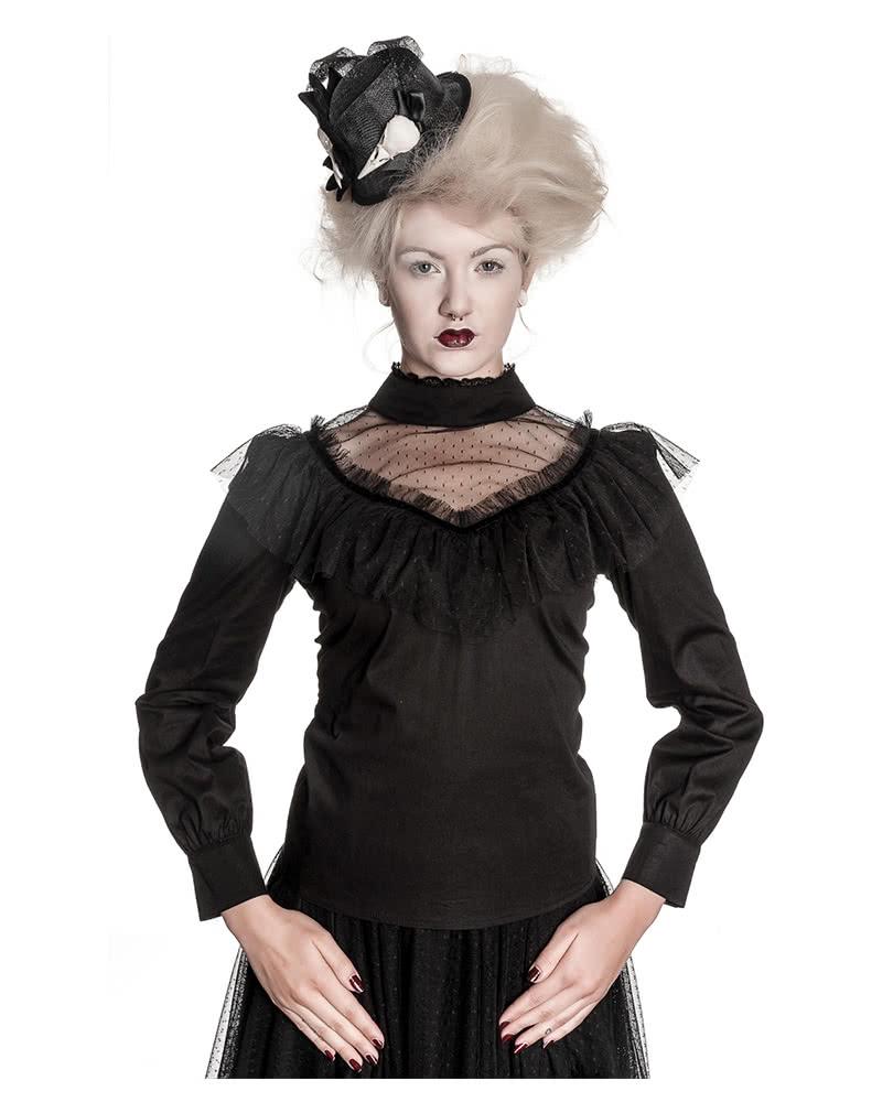 spitzenbluse mit stehkragen gothic bluse damenbluse. Black Bedroom Furniture Sets. Home Design Ideas