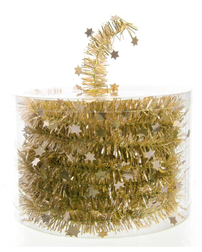 Sterngirlande in gold elegante dekoration mit sternen karneval universe - Dekoration gold ...
