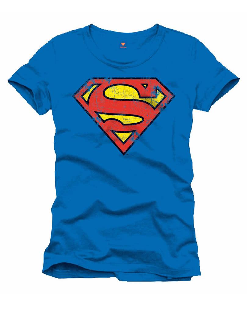 superman retro logo t shirt superhero t shirt retro look karneval universe. Black Bedroom Furniture Sets. Home Design Ideas