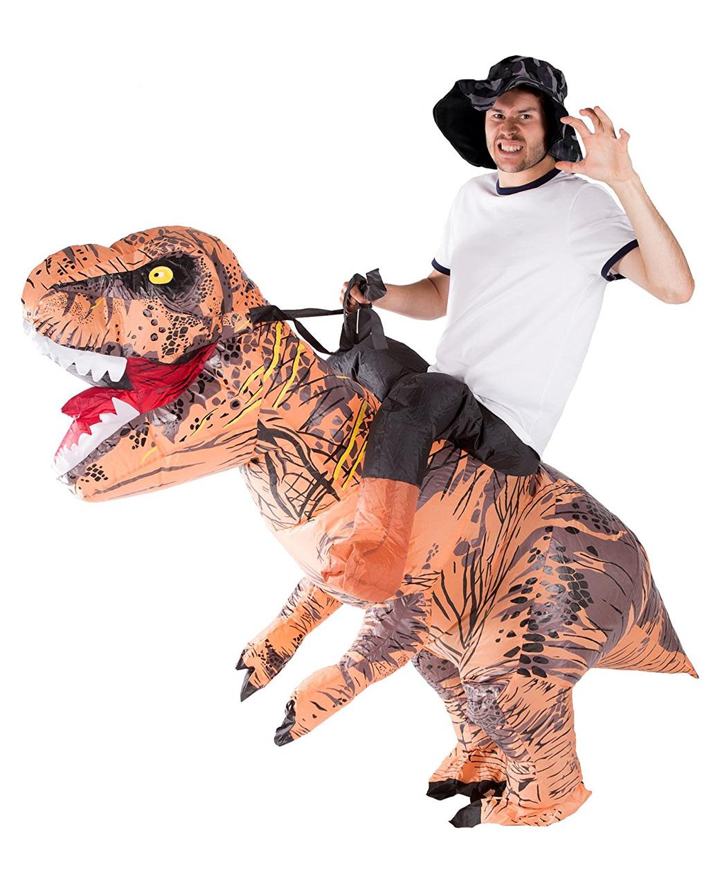 dinosaurier huckepack kost m aufblasbares kost m f r. Black Bedroom Furniture Sets. Home Design Ideas
