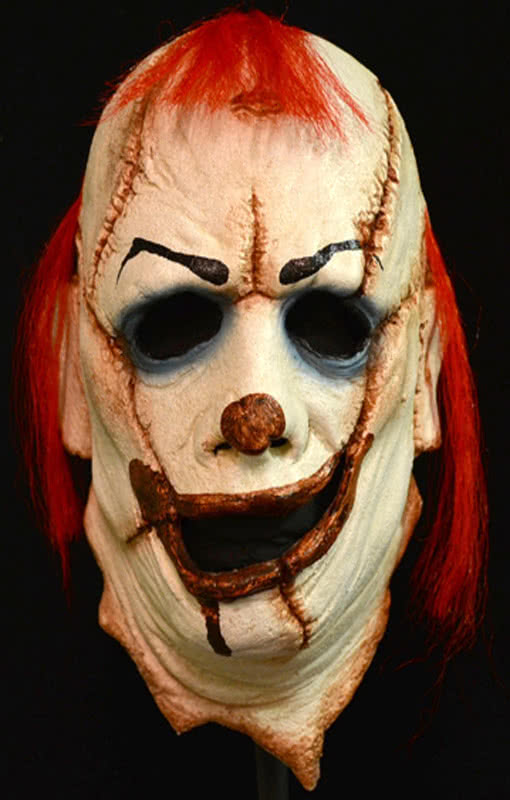 grusel clown maske jetzt noch schnell die grusel clown maske sichern karneval universe. Black Bedroom Furniture Sets. Home Design Ideas
