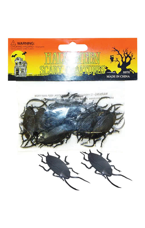 12 kakerlaken ein dutzend kakerlaken f r deine horror deko karneval universe. Black Bedroom Furniture Sets. Home Design Ideas