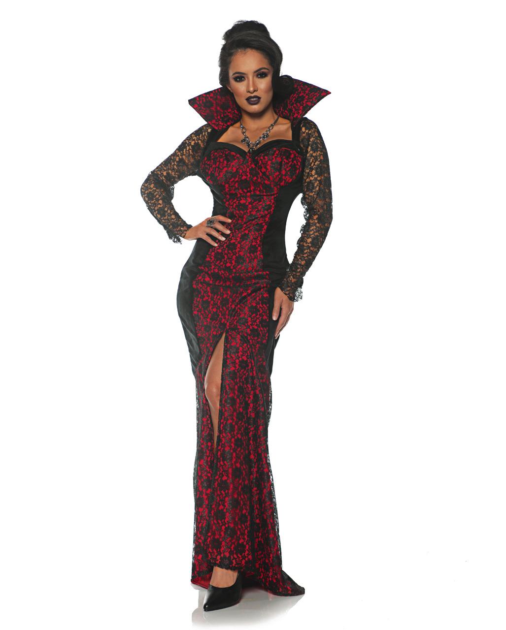 Smi Damen Kostüm Vampirin Karneval Fasching Halloween